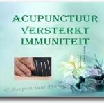 Acupunctuur versterkt immuniteit s
