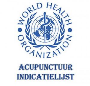 WHO Acupunctuur Indicatielijst